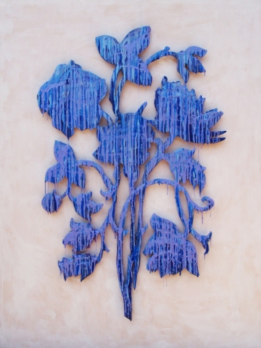 Blue Drip Flower I