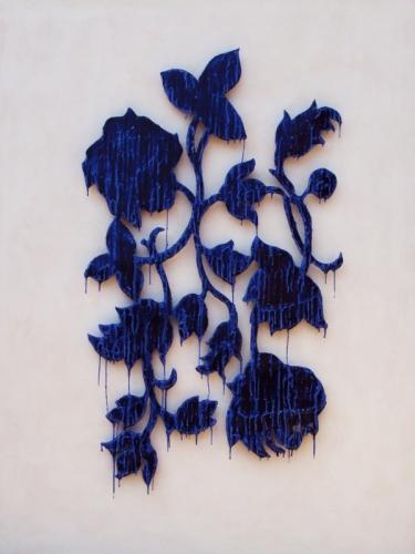 Blue Drip Flower II