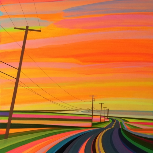 Sunset On Old Montauk Highway (orange)