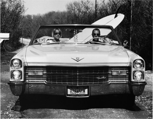 David and Pam in their Caddy