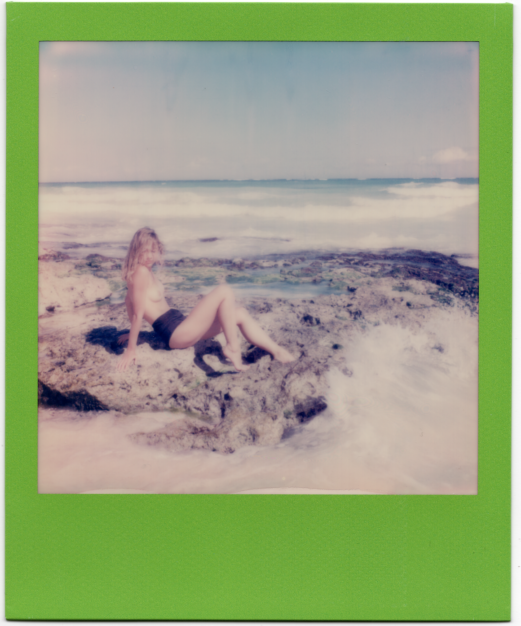Untitled (Beach Babe on Green)